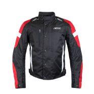 Мотокуртка текстильная RUSH Warmer, Черный/красный