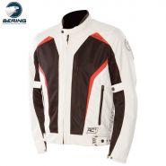 Мотокуртка Bering Keers, белый с коричневым